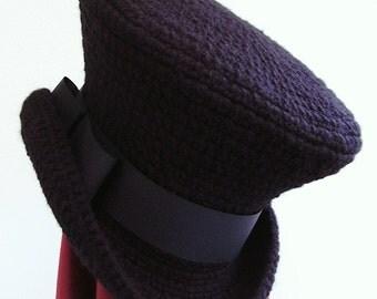 Gothic Victorian black mad hatter hat