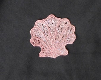 Lace Applique for Crafts or Crazy Quilt - Delicate Seashell - any color