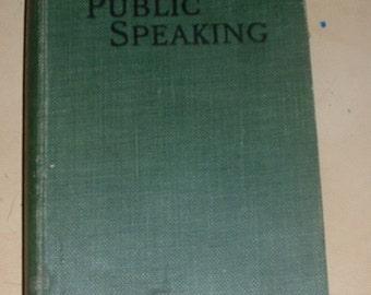 vintage book Public speaking by professor duncan