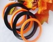Halloween Bangles Orange & Black