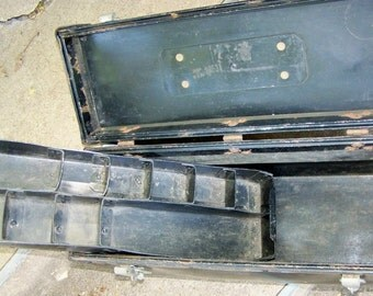 Vintage Black Treasure Trunk