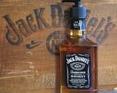 Jack Daniels Soap Dispenser - Upcycled Glass Bottle Whiskey Daniel's
