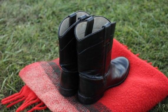 Vintage Black Justin Roper Boot size 6 Womens
