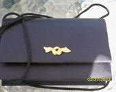 Black Satin Formal Bag made in the United Kingdom.    Free Shipping.