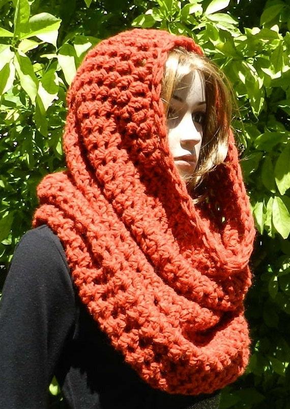 Hand Crochet Modern Cowl - Neckwarmer - Head Tube - Scarf Chunky Texture - Wool/Acrylic