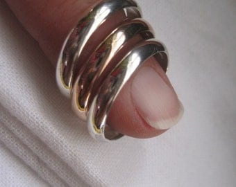 Sterling silver and 9ct rose gold stacking rings - made to order