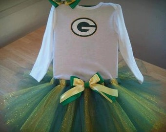 Green Bay Packers inspired tutu outfit
