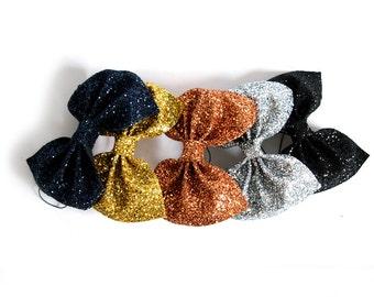 Huge Glitter Hair Bow - Metallics