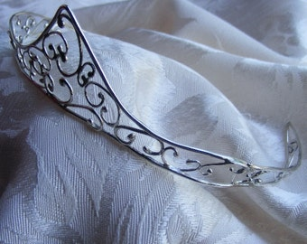 Sterling Silver  Filigree Tiara by Arcturus Jewellery