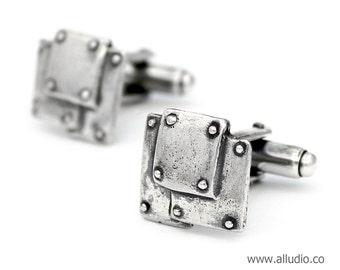 BOND TOGETHER steampunk oxidised sterling silver cufflinks