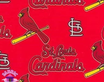 114226035 - Fabric Traditions MLB St. Louis Cardinals Licensed Fleece Fabric