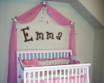 Wooden Letters - Nursery Letters set of 4 - Painted Wood Letters - Nursery decor, home decor, girl's room, boy's room decoration