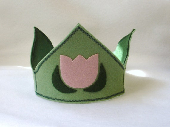 Spring tulip wool felt Waldorf seasonal crown - in stock and ready to ship - SP001