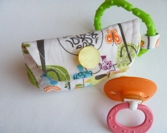Happier print Pacifier Pouch and walk the dog bag