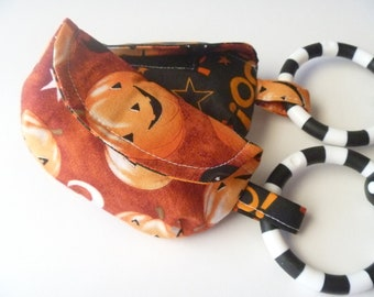 Halloween Pacifier Pouch little pumpkins or leash bag