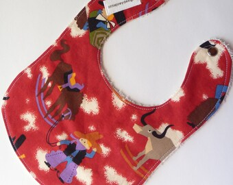 Western Theme Baby Bib for Boys