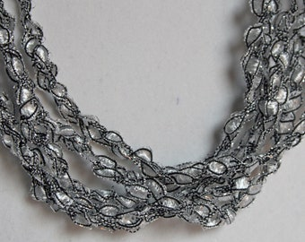 Silver Bells - Hand Crocheted Necklace