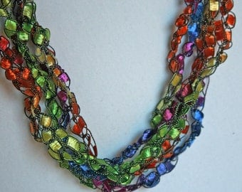 Confetti  - Crocheted Necklace