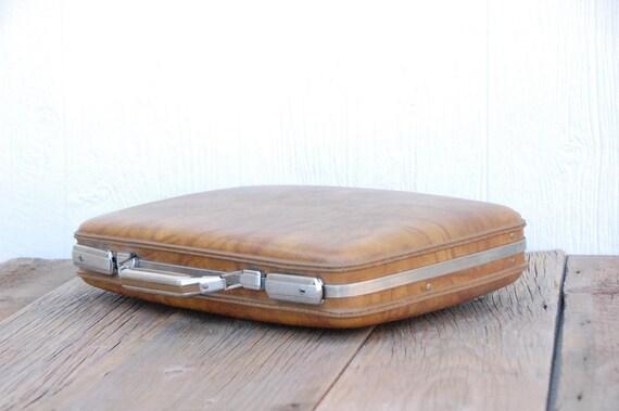 Vintage Retro Brown Super Fly Attache Laptop Carrier Case