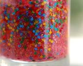 Gummy Bears: Nail Polish Custom blended Glitter Lacquer (matte)