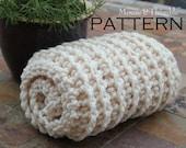 "Chunky Fisherman Style Baby Blanket - Crochet PATTERN 25"" x 21""/(64 x 53) cm - PDF 2521"