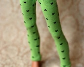 MSD Green Heart Leggings For Ball Jointed Dolls