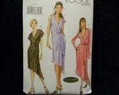Uncut Vogue Pattern 7898 Size  18,20,22 Wrap Dress with Asymmetrical Hemline