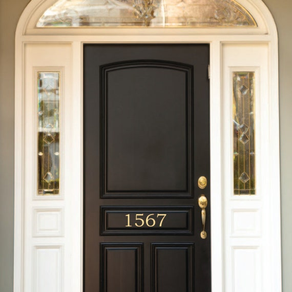 Items similar to classic house numbers door removable for Classic house numbers