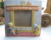 Classic Pooh Charpente Nursery Frame with Christopher Robbin- Hand Painted