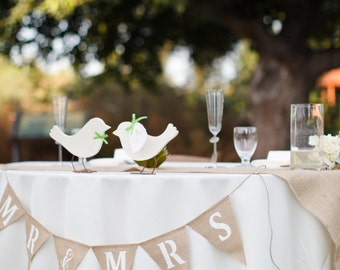Mr&Mrs glittered burlap banner Wedding Garland