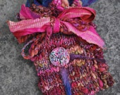 "Tarot Bag fantasy boho handspun OOAK ""Eight of Wands"""