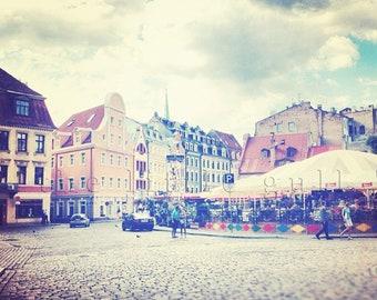 8 x 8 fine art print - Riga Square