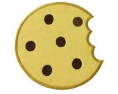 Applique Chocolate Chip Cookie With A Bite Missing Machine Embroidery Design - 4 Sizes