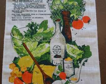 Vintage Kay Dee Signs Linen Towel or Wall Hanging