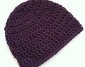 Purple Beanie, Crochet Baby Hat, Newborn Hat, Baby Hat, Crochet Baby Beanie, Photo Prop