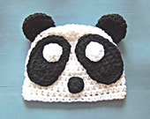 Crochet Panda Baby Beanie Hat Size Newborn-Adult