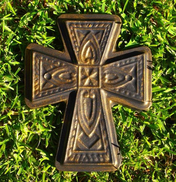 Celtic Cross Religious Mold ABS Plastic Mold Plaster Concrete Cement Home Outdoor Decor New