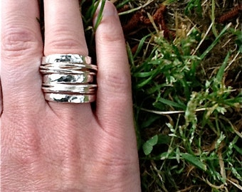 Wispy and Solid Stacker Rings