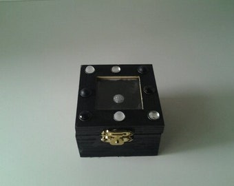 Black Ring Box With Decorated Accents