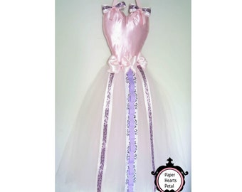 Custom Large Pink & Purple Full SizeTutu Dress Hair Accessories Holder Organizer for Hair Bows, Head Bands - Wall Decoration - Made to Order