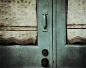 """Fine art photography - matted print - iphoneography - """"Blue Door"""""""