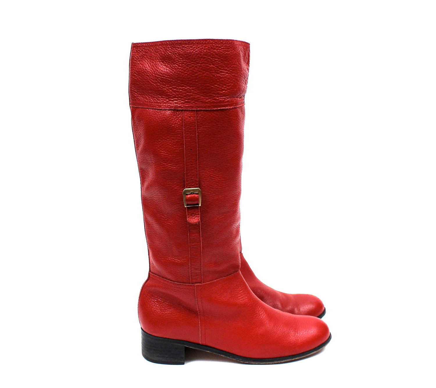 leather knee high boots womens size 11 apple