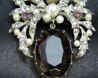 1950's Vintage ART Demi-Parure Brooch and Earrings
