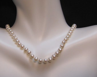 "4.5mm Cultured Pearl 14"" Necklace with 14kt Gold Clasp"