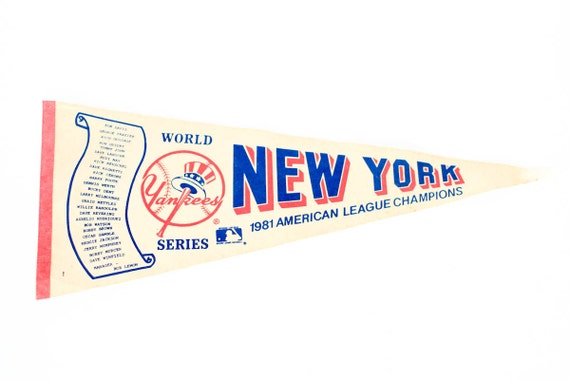 Vintage 1981 Pennant for New York Yankees World Series