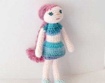 Amigurumi crochet  doll SHIRLEY,wool toy,plush doll,gift
