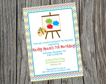 Painting Party Invitation, Paint Party Invite, Painting Invitation, Art Party Invitation, Painting Birthday Invitation, Birthday Invite