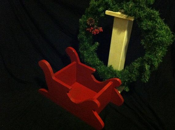 SALE Large Christmas Sleigh-Newborn Christmas Sled Photo Prop