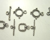 RESERVED for IGH069 toggle square 8x8mm sterling silver  4 sets