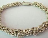 Mexican Silver Byzantine Link Bracelet
